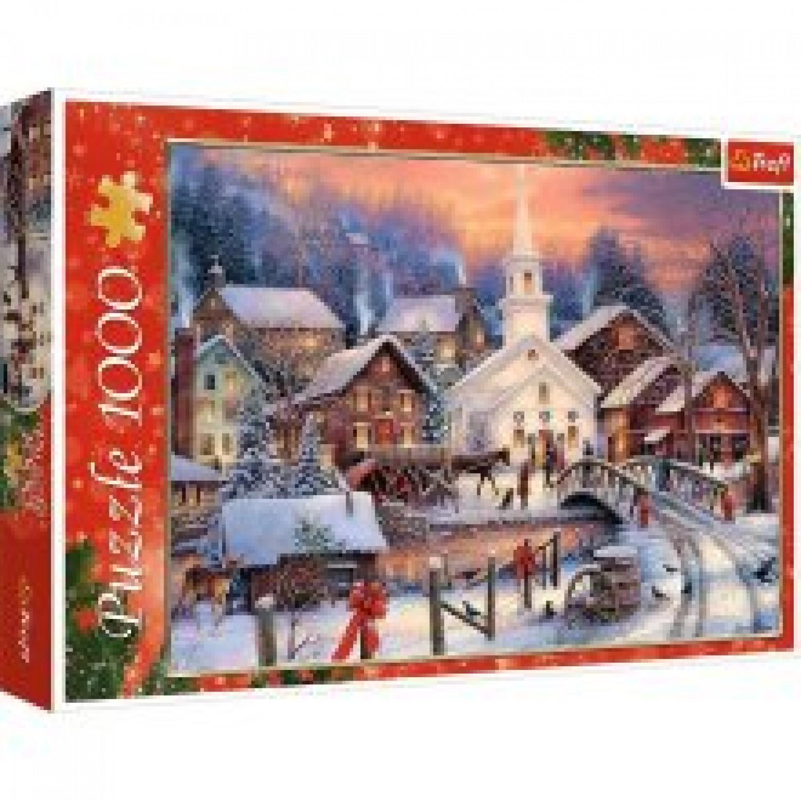 Puzzel Witte Kerst 1000 stukjes