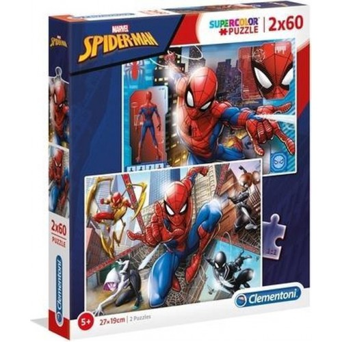 Marvel Spider-man puzzel 2 x 60 stukjes 5+