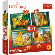 The Lion King 4 in 1 puzzel 4+