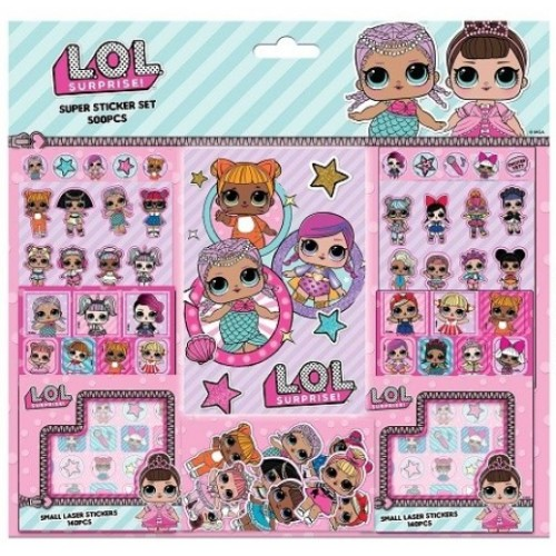 L.O.L Surprise super sticker set 500