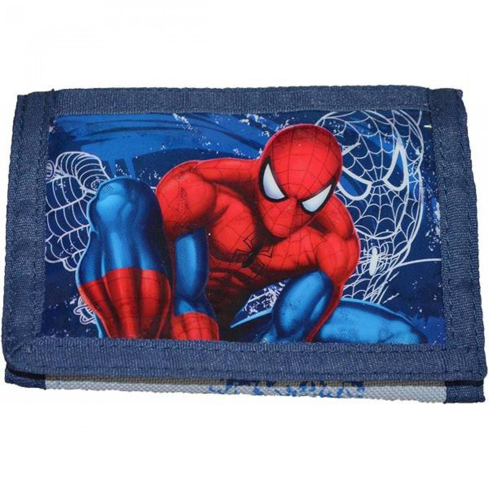Spider-man portemonnee blauw